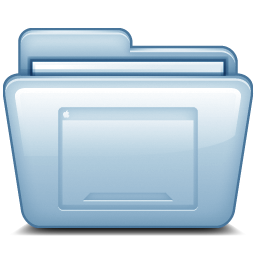 Blue Desktop Icon Free Download as PNG and ICO, Icon Easy