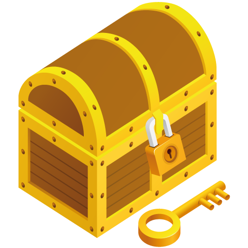 Empty Treasure Chest Cartoon Treasure chest icon free