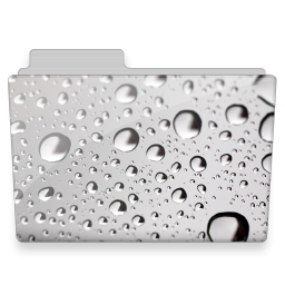 Water Drops Folder Icon Free Download As Png And Ico Icon Easy