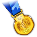 Gold Medal Icon Free Download as PNG and ICO, Icon Easy