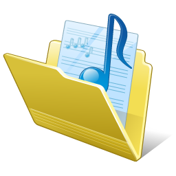Folder my music Icon Free Download as PNG and ICO, Icon Easy