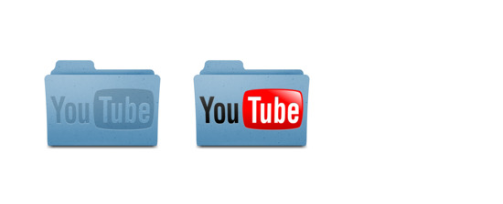 YouTube Leopard Folder v1 Icons Set PNG ICO Free download, Icon Easy
