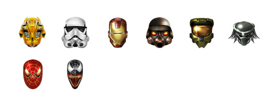 Cool heroes icons set png ico free download icon easy