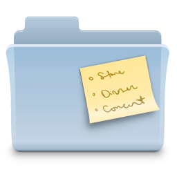 Notes Folder Icon Free Download As Png And Ico Icon Easy