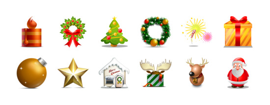 Christmas Icons Png.Merry Christmas Icons Set Png Ico Free Download Icon Easy